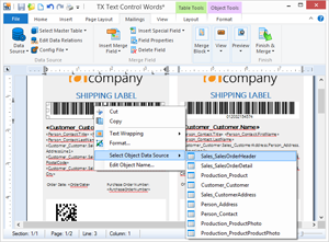 Bind barcodes to databases