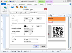 Full integration into TX Text Control