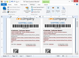 Create shipping labels with UPS barcodes